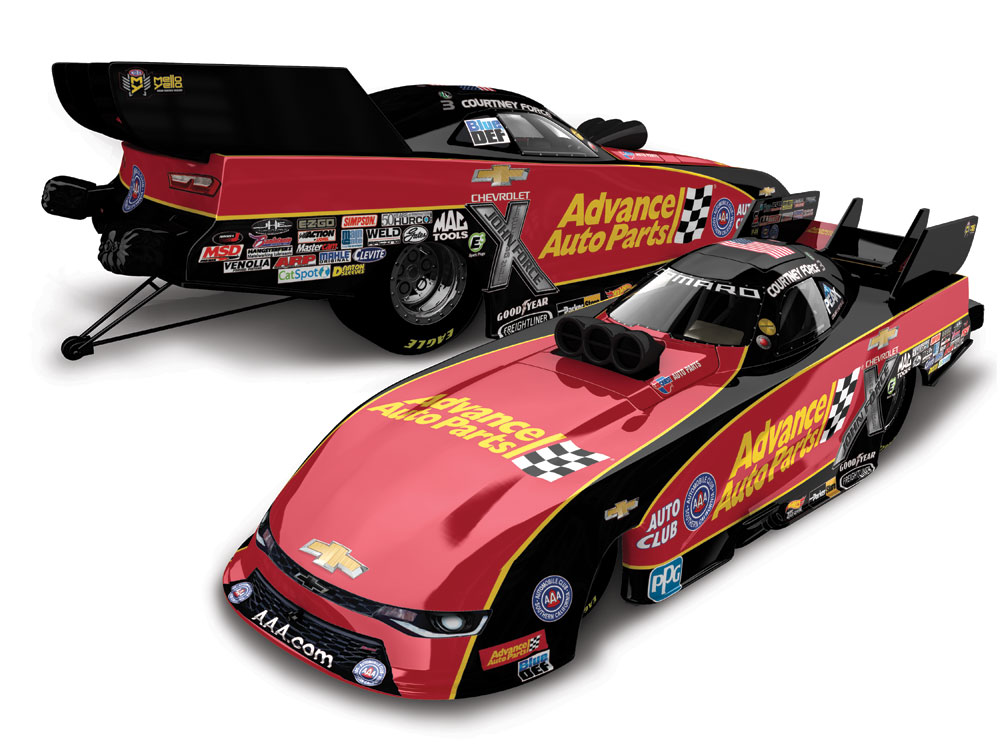 courtney force 2018 advance auto parts 1 24 arc diecast. Black Bedroom Furniture Sets. Home Design Ideas