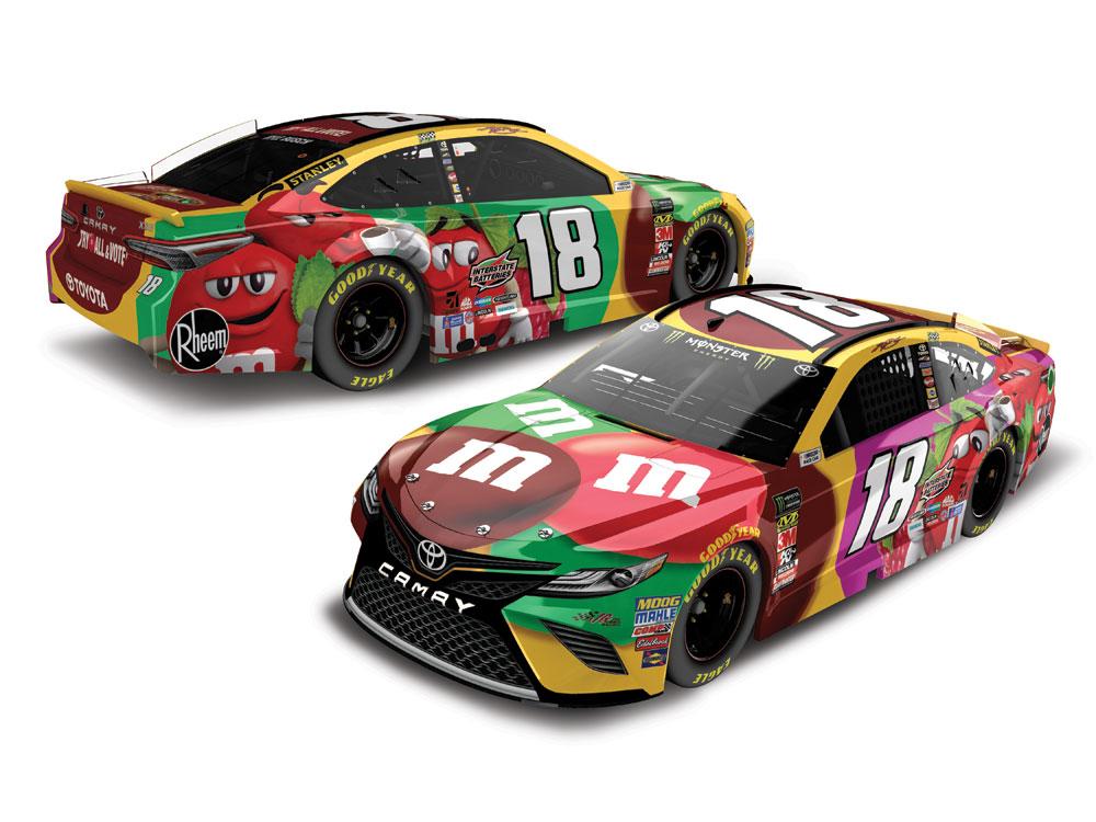 Kyle Busch Motorsports >> KYLE BUSCH 2018 M&M'S FLAVOR VOTE 1:24 ELITE DIECAST