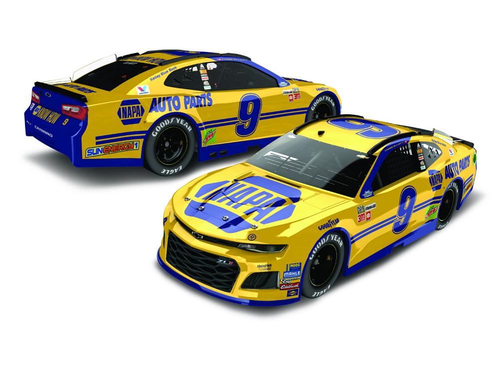 NASCAR 2018 CHASE ELLIOTT # 9 CAN AM DUEL WIN # 2 NAPA AUTO PARTS 1//64 CAMARO