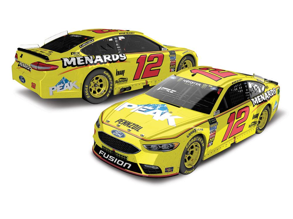 NASCAR 2018 RYAN BLANEY # 12 WRANGLER RIGGS WORKWEAR 1//64 CAR